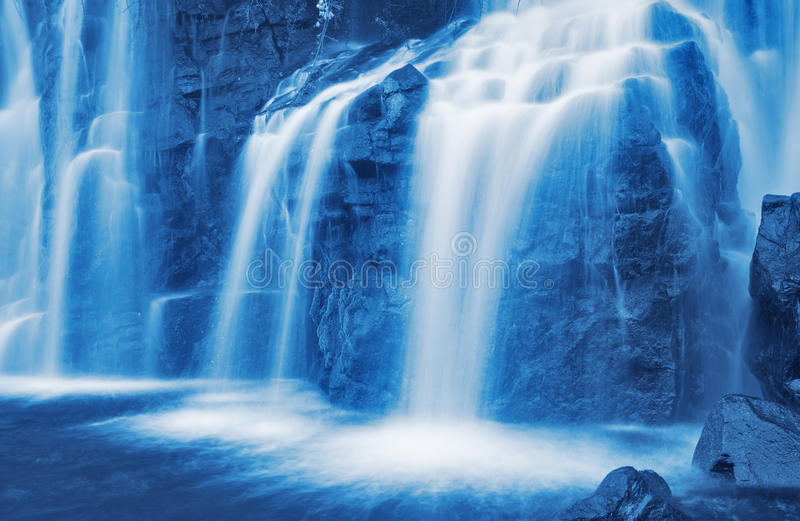 Cascading Waterfall stock photos