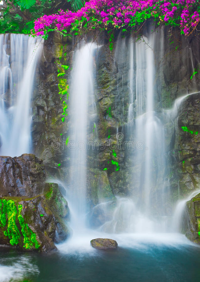 Cascading Waterfall stock photography