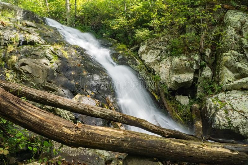 Cascading Waterfall on Falling Water Creek royalty free stock photo