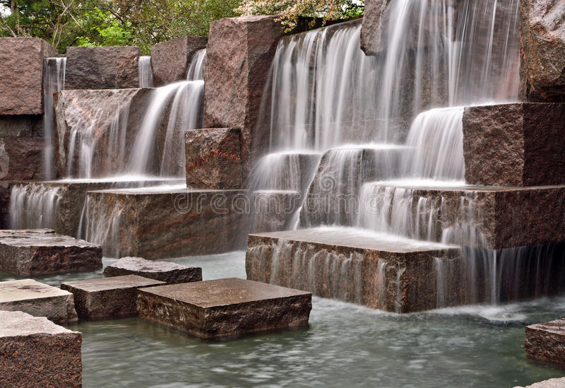 Download Cascading Waterfalls At FDR Memorial Stock Image - Image: 24221159