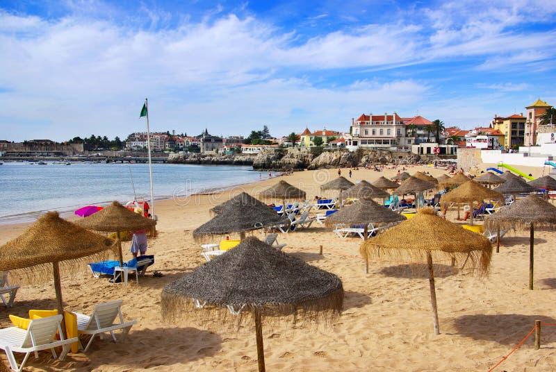 cascais пляжа стоковое изображение