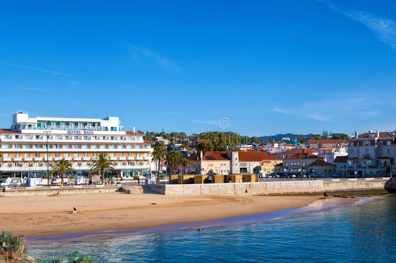 Cascais is famous and popular summer vacation spot for Portuguese and foreign tourists. CASCAIS, PORTUGAL - SEPTEMBER 24 . 2017 . Cascais is famous and popular stock photography
