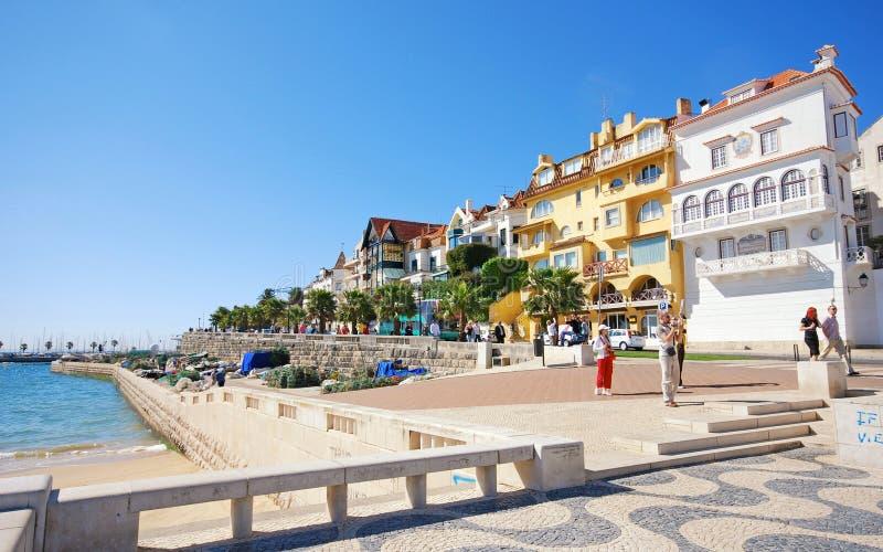 Cascais kust, Lissabon, Portugal royaltyfria bilder
