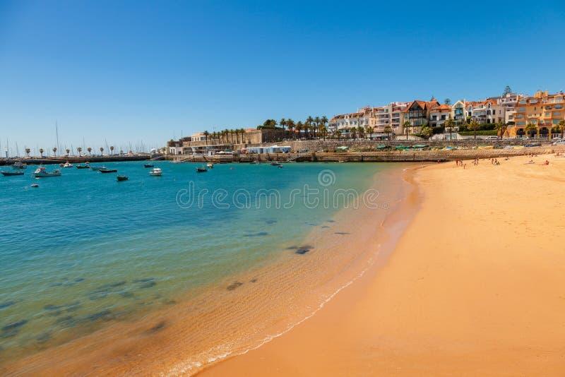 Cascais no verão, Portugal foto de stock royalty free