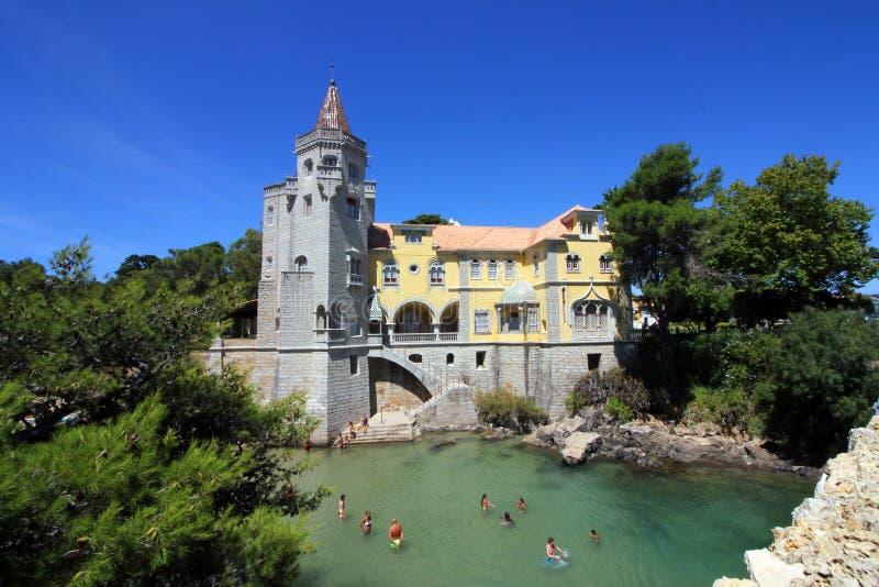 Cascais slott arkivbilder