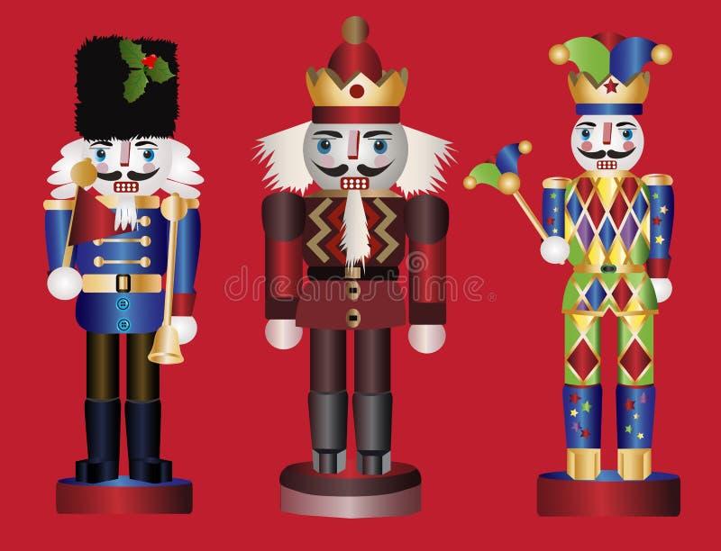 Cascanueces de la Navidad stock de ilustración