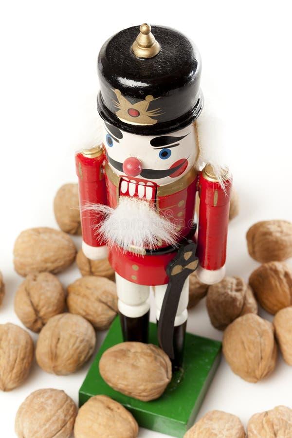 Cascanueces festivo de la Navidad fotografía de archivo libre de regalías