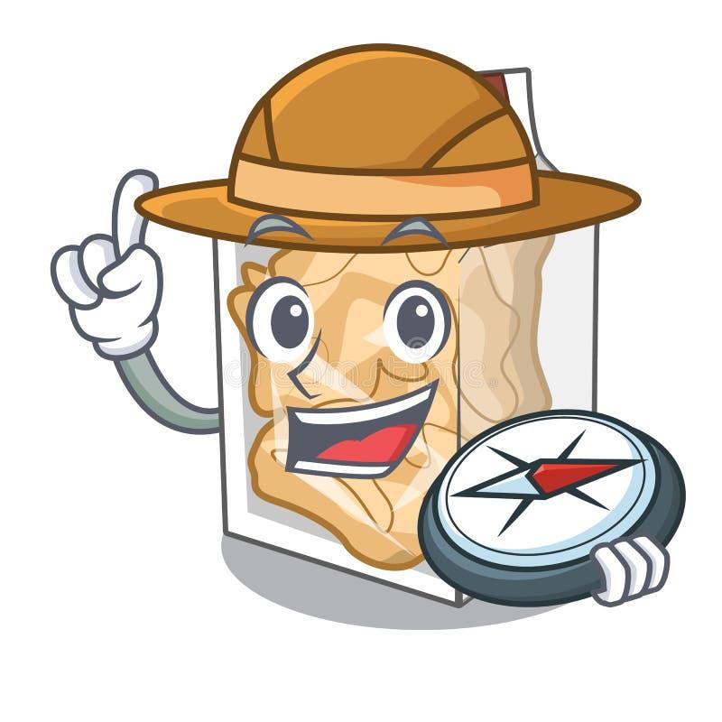 Cascas da carne de porco do explorador na forma da mascote ilustração royalty free