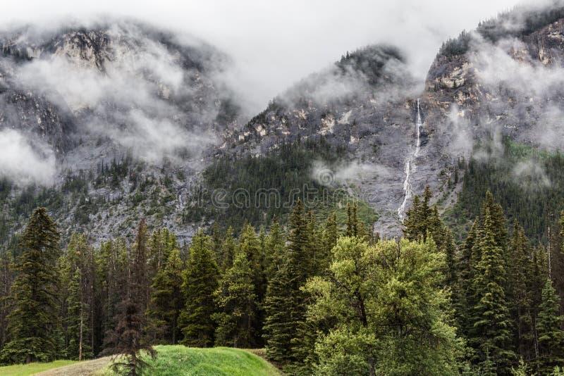 A cascata cai em Banff imagem de stock