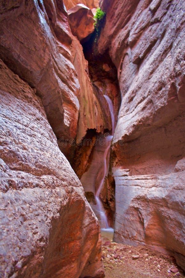 Cascata in canyon della scanalatura immagine stock libera da diritti
