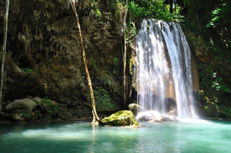 Cascata in cascata di Erawan - della Tailandia) fotografie stock libere da diritti