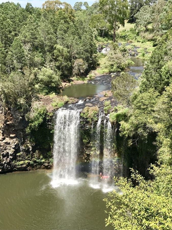 Cascata in Cedar Conservation Reserve rosso, Australia fotografia stock