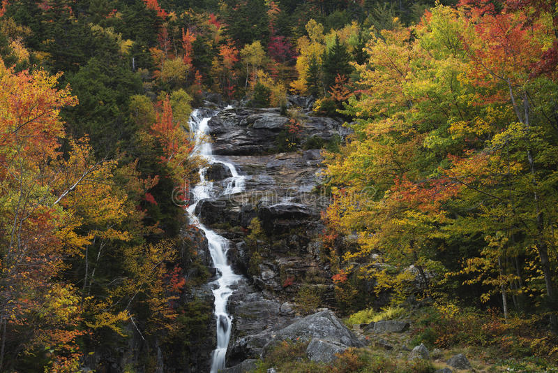 Cascata d'argento in autunno fotografie stock