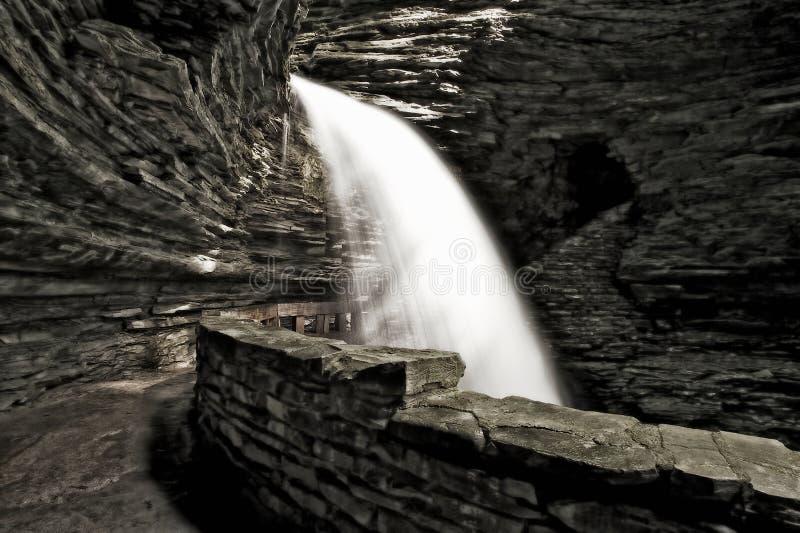 Cascata da caverna foto de stock