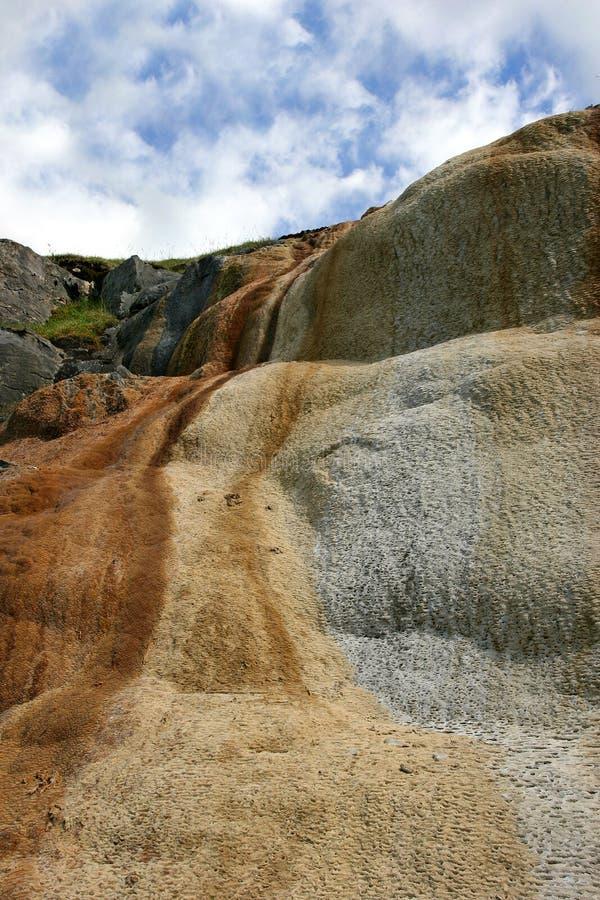 Cascata da rocha da pedra calcária fotos de stock royalty free