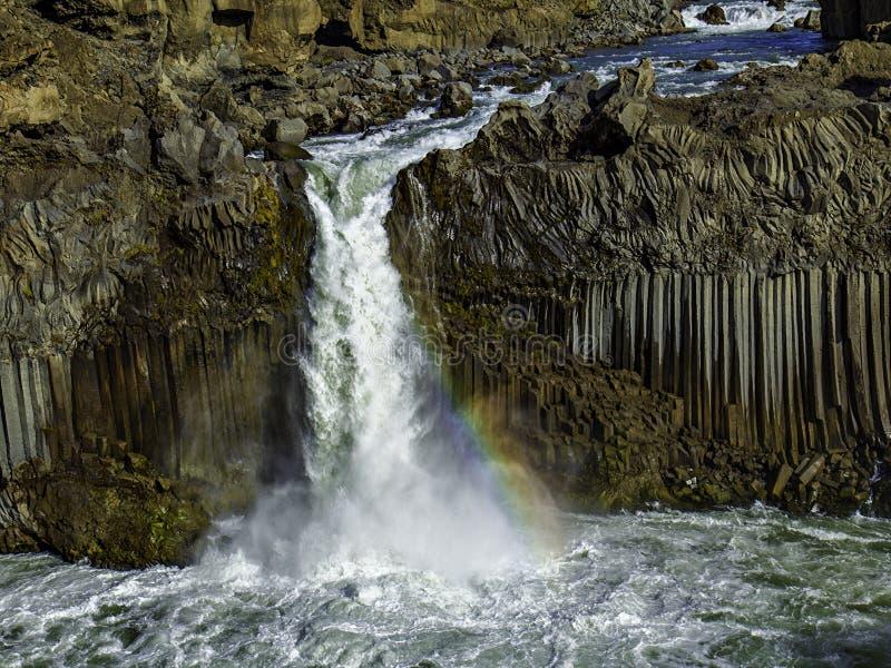Cascata de Aldeyjarfoss fotografia de stock royalty free