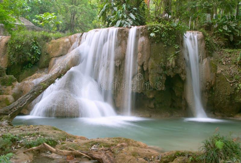 Cascata del Cascadas de Agua Azul immagini stock libere da diritti