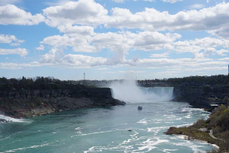 Cascata del ferro di cavallo di cascate del Niagara fotografia stock