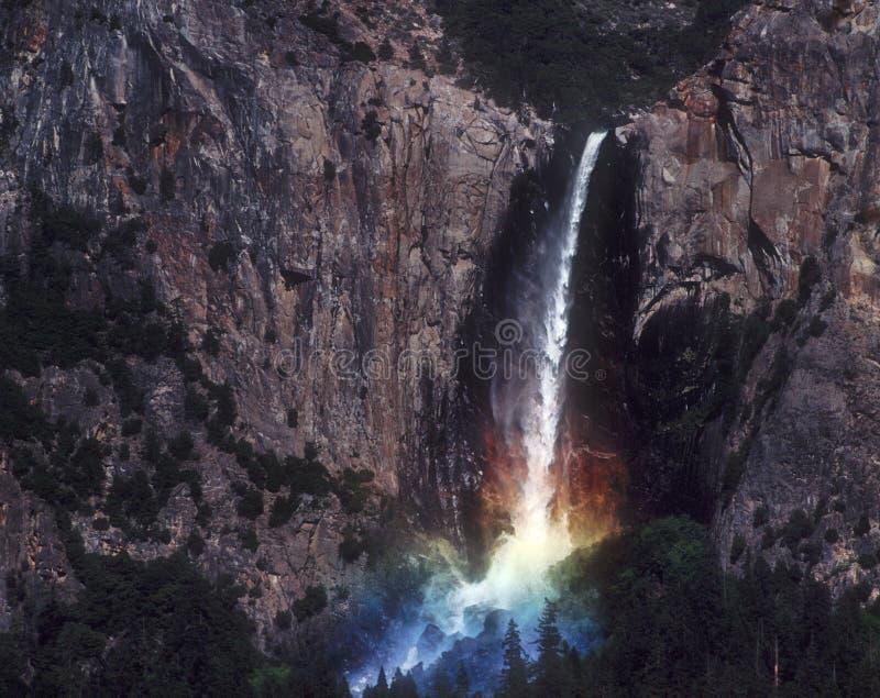 Cascata del Rainbow, Yosemite fotografia stock libera da diritti