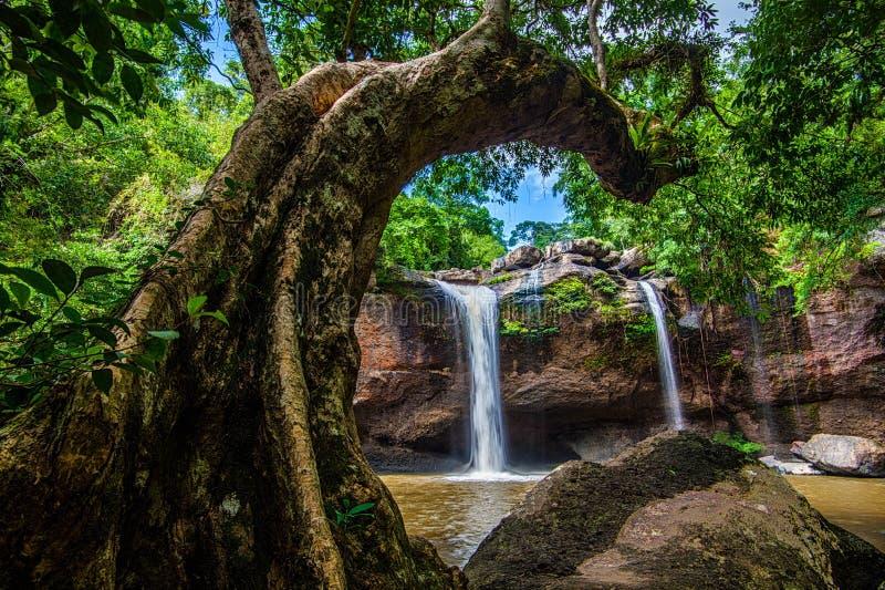 Cascata del suwat di Heaw fotografia stock