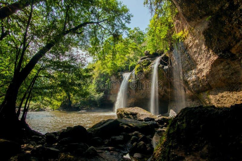 Cascata del suwat di Heaw fotografie stock libere da diritti