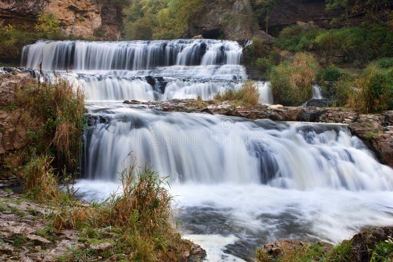 Cascata della sosta di condizione del fiume del salice fotografia stock libera da diritti