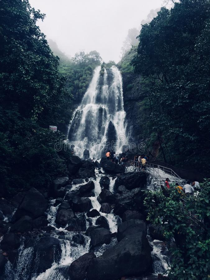 Cascata di Amboli Ghat immagine stock