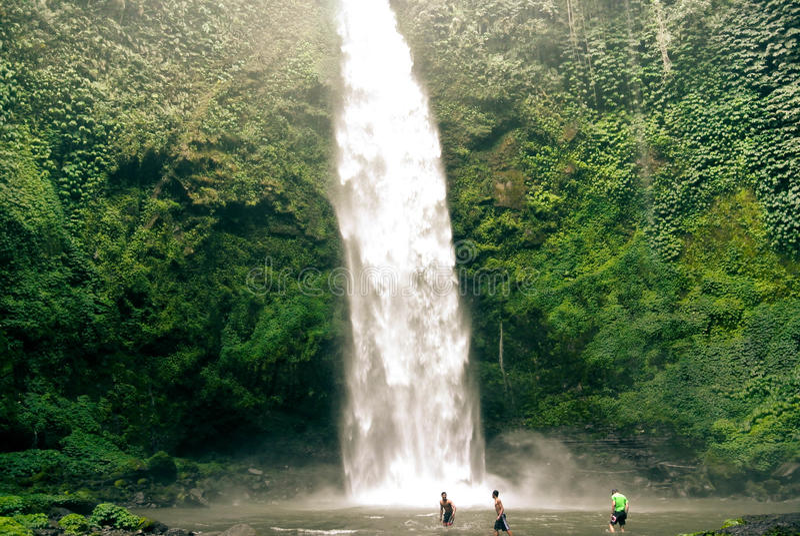 Cascata di Bali fotografie stock libere da diritti
