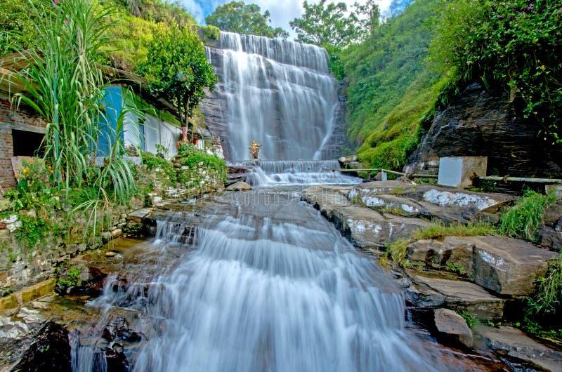 Cascata di Dunsinane nello Sri Lanka fotografie stock libere da diritti