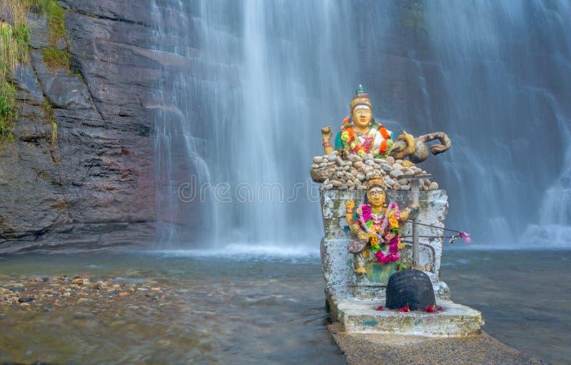 Cascata di Dunsinane nello Sri Lanka fotografia stock