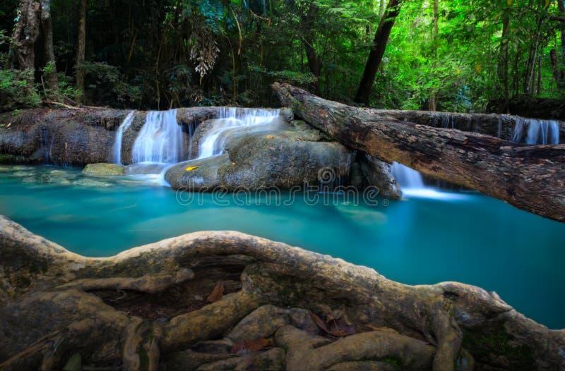 Cascata di Erawan, Tailandia immagini stock