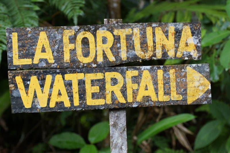 Cascatadi Fortuna della La di Â, vulcanodi Arenal Alajuela, San Carlo, Costa Rica, America Centrale fotografie stock