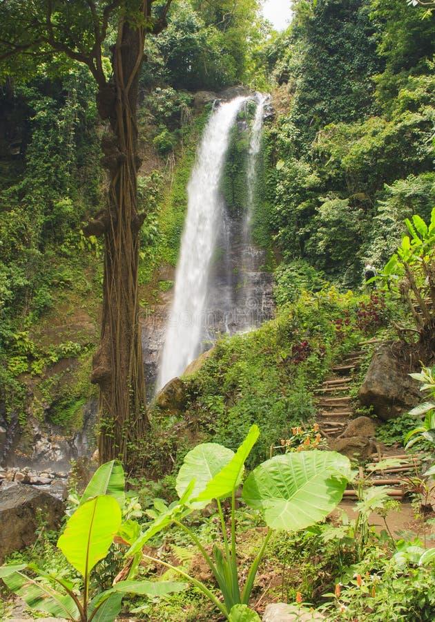 Cascata di Git Git Isola di Bali fotografie stock libere da diritti