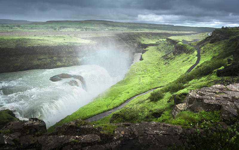 Cascata di Gullfoss fotografie stock