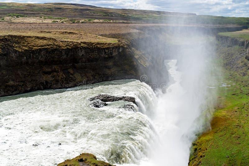 Cascata di Gullfoss - sud-ovest Islanda fotografie stock