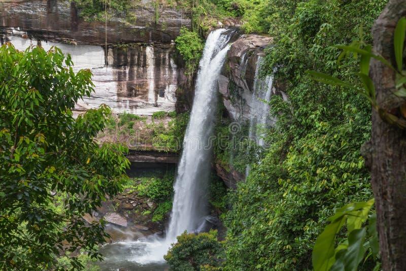 Cascata di Huai Luang a Ubon Ratchathani Tailandia fotografia stock libera da diritti