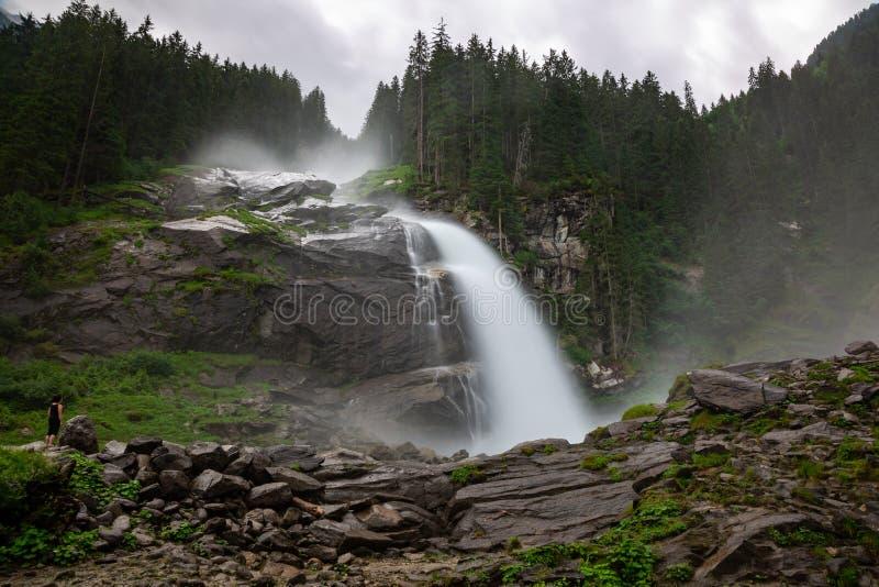 Cascata di Krimml in Austria fotografie stock