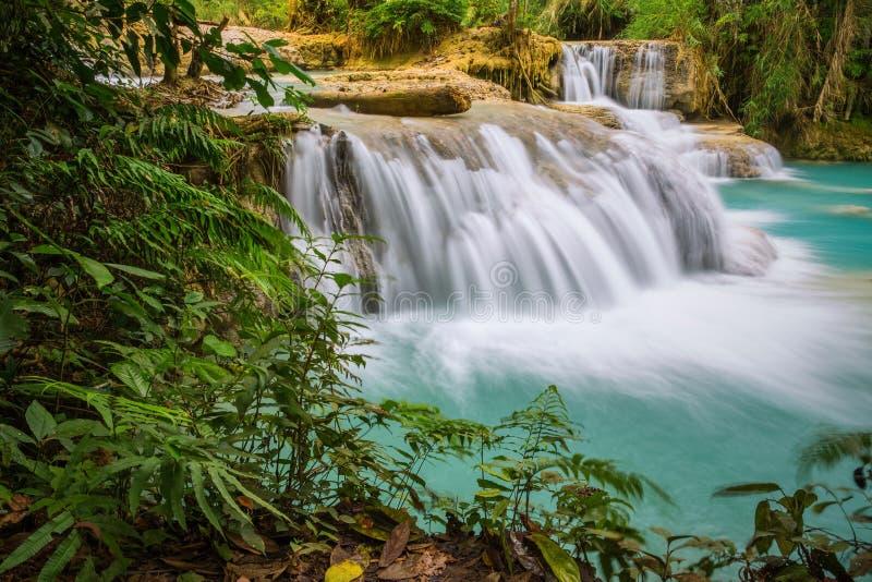Cascata di Kuang Si, prabang di Luang, Laos immagini stock libere da diritti
