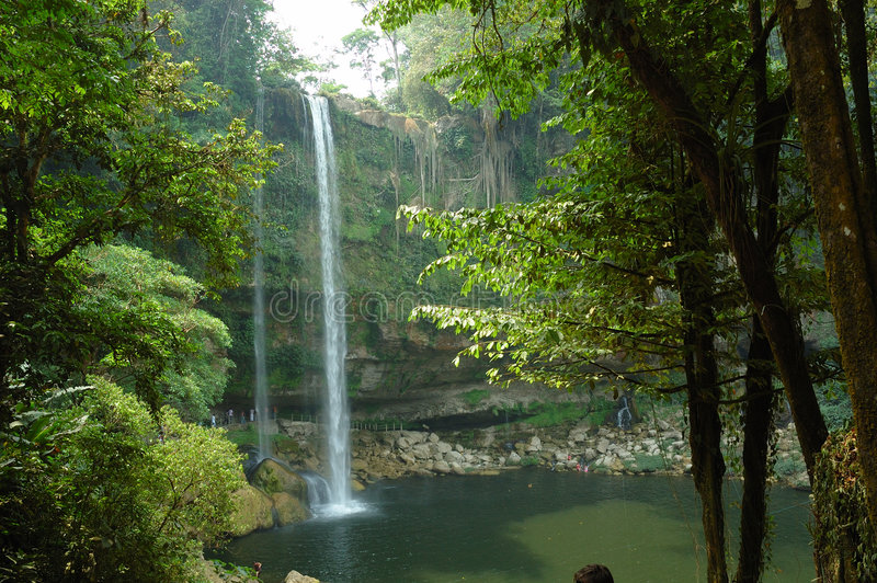 Cascata di Misol ha, Messico. fotografia stock