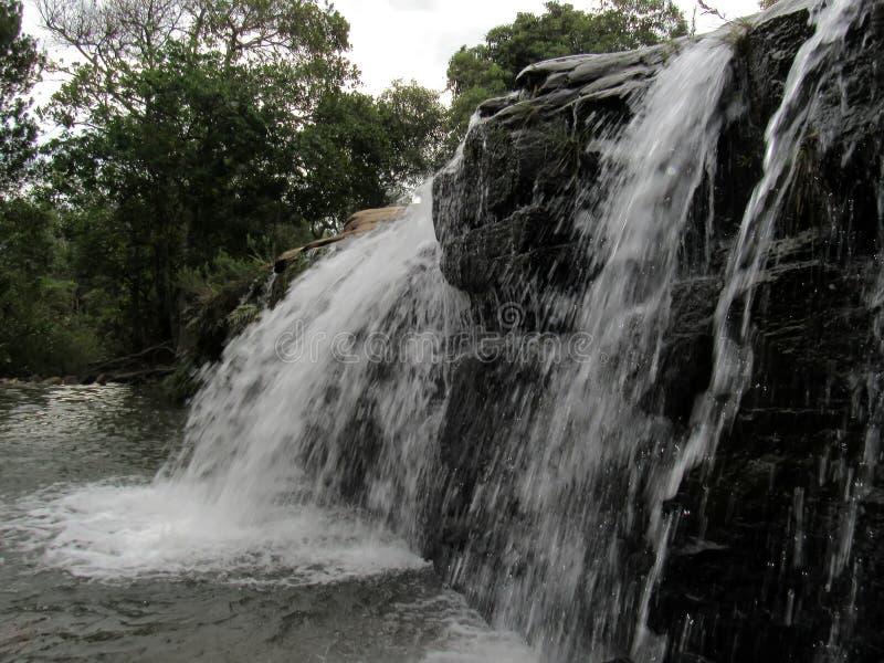 Cascata di Moinho Carrancas MG immagini stock libere da diritti