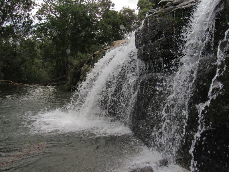 Cascata di Moinho Carrancas MG fotografie stock libere da diritti
