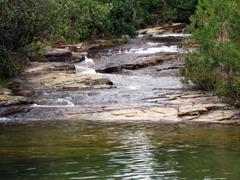 Cascata di Moinho Carrancas MG fotografia stock libera da diritti