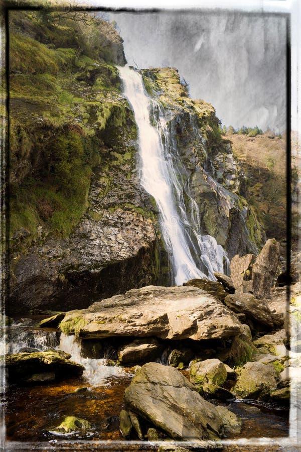 Cascata di Powerscourt in contea Wicklow immagini stock