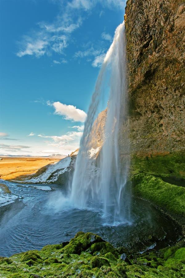 Cascata di Seljalandfoss immagine stock libera da diritti