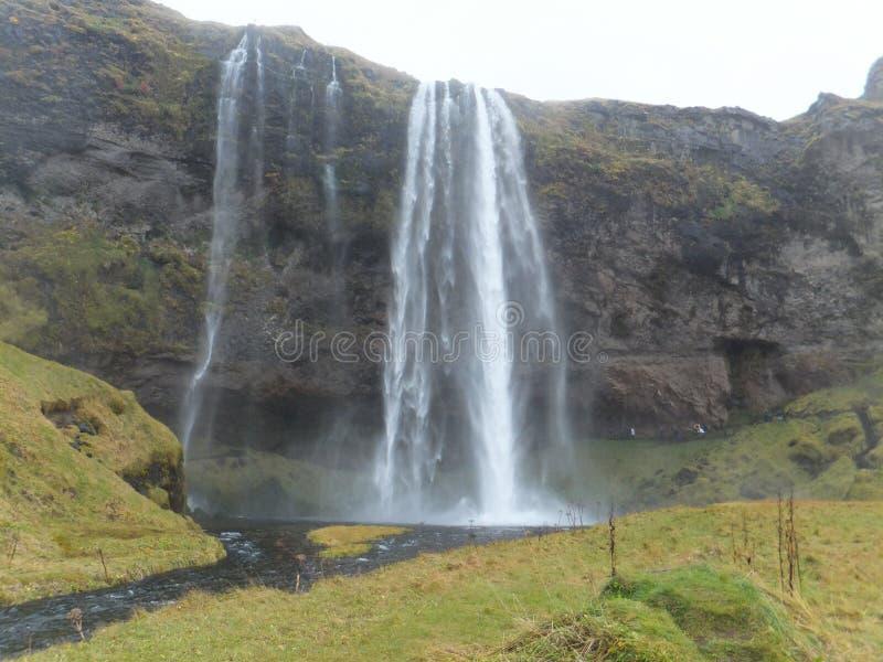 Cascata di Seljalandfoss in Islanda fotografia stock