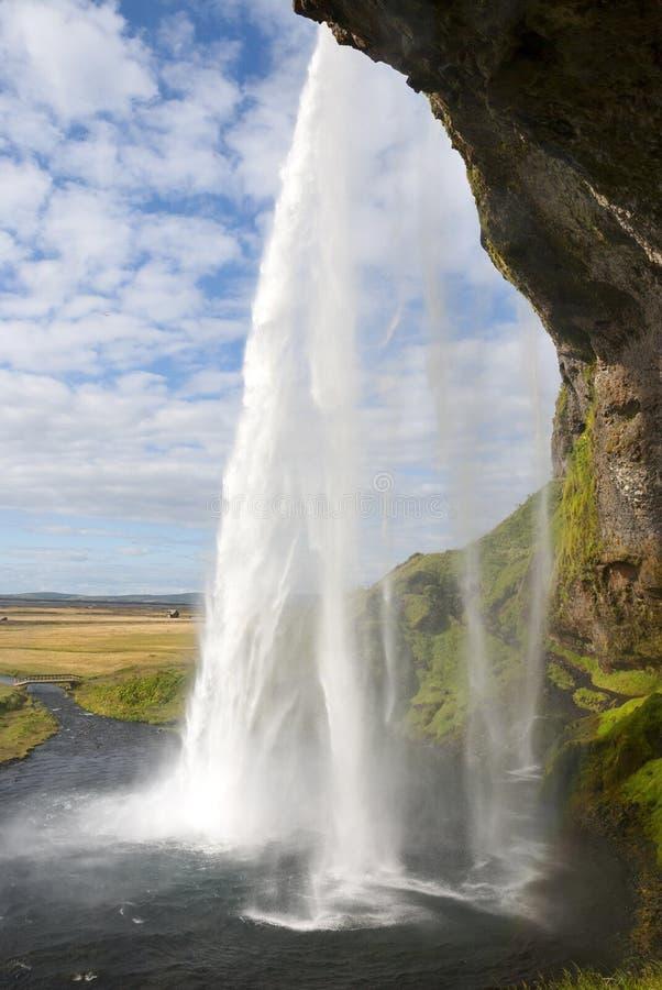 Cascata di Seljalandsfoss fotografie stock libere da diritti