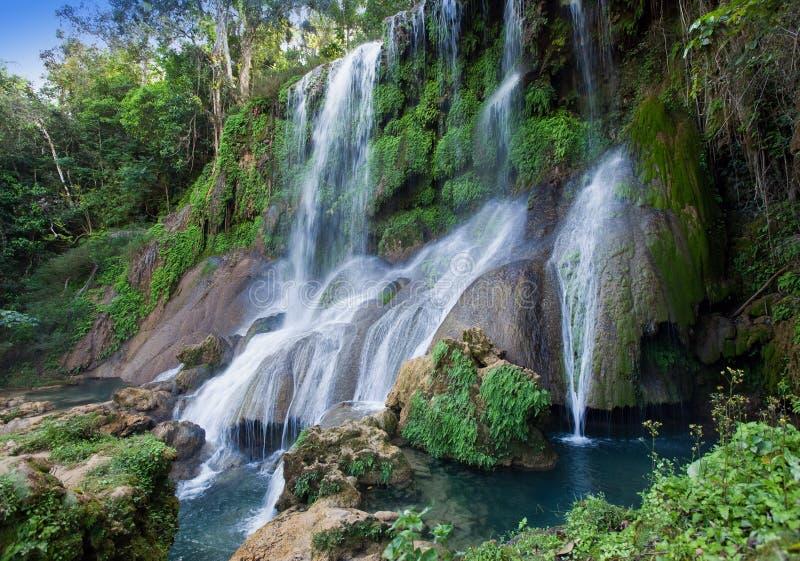 Cascata di Soroa, Pinar del Rio, Cuba fotografia stock