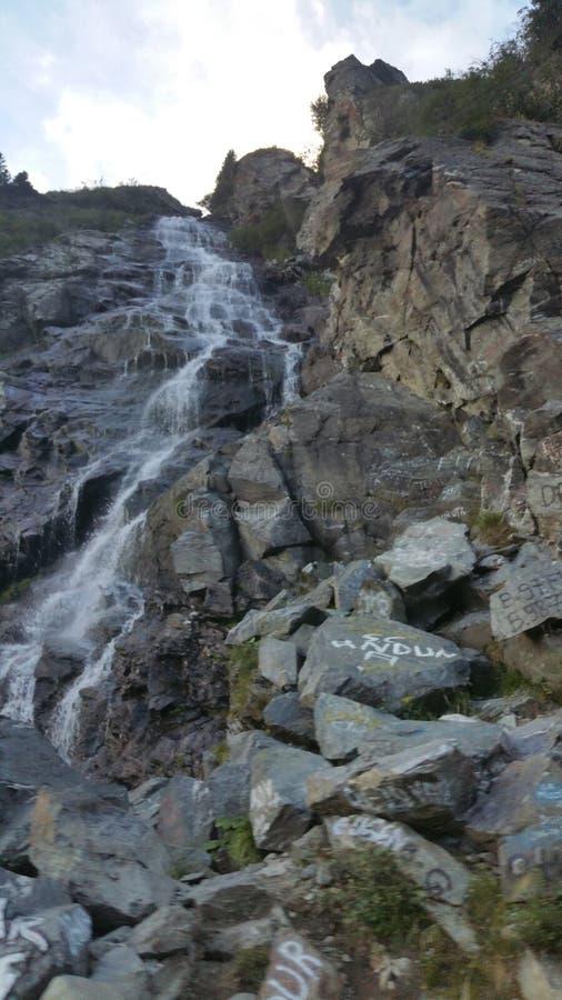 Cascata di Transfagarasani fotografia stock libera da diritti