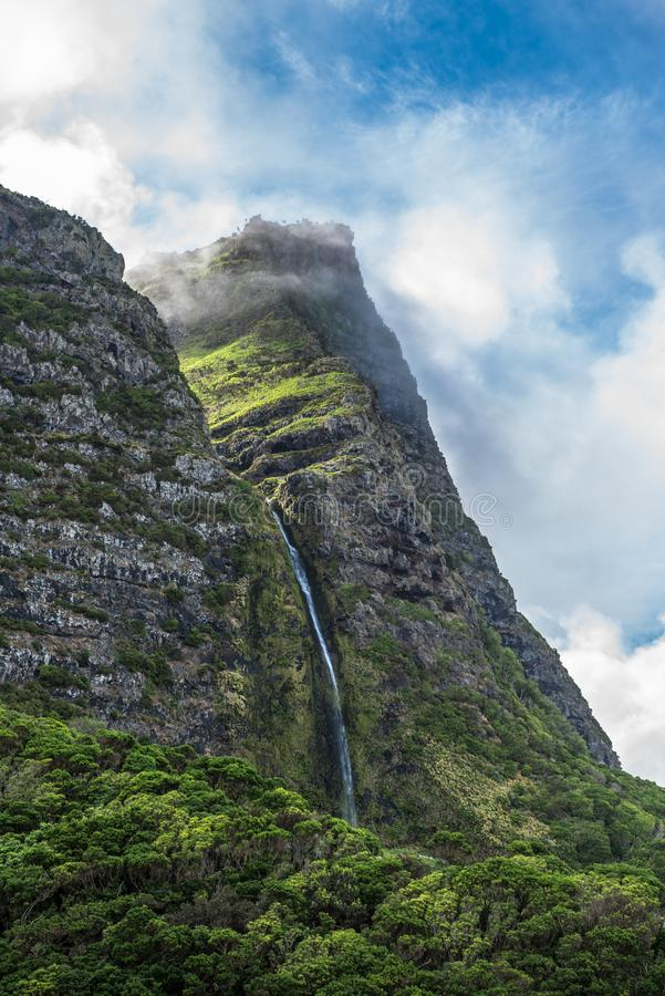 Free Cascata Do Poço Do Bacalhau, A Waterfall On The Azores Island O Royalty Free Stock Image - 125836976