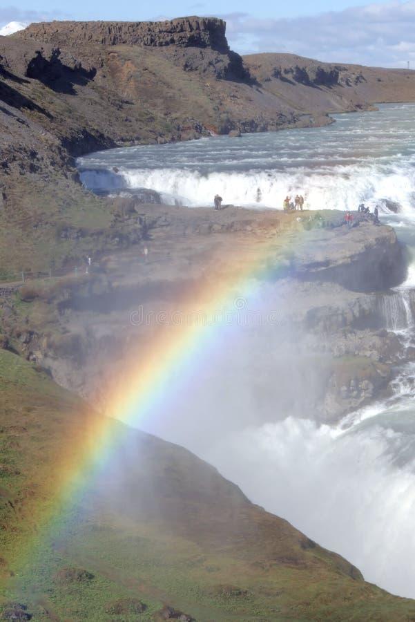 Cascata e Rainbow fotografia stock libera da diritti